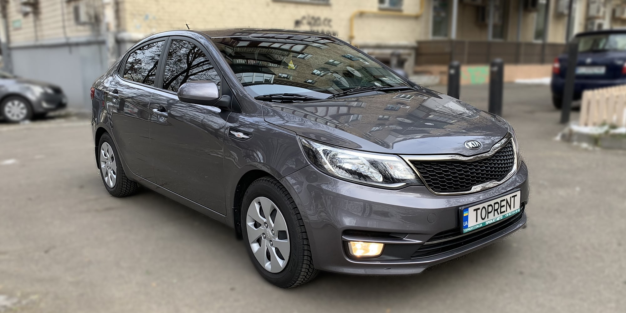 Прокат и аренда авто Kia Rio Sedan 2015 - фото 2 | TOPrent.ua