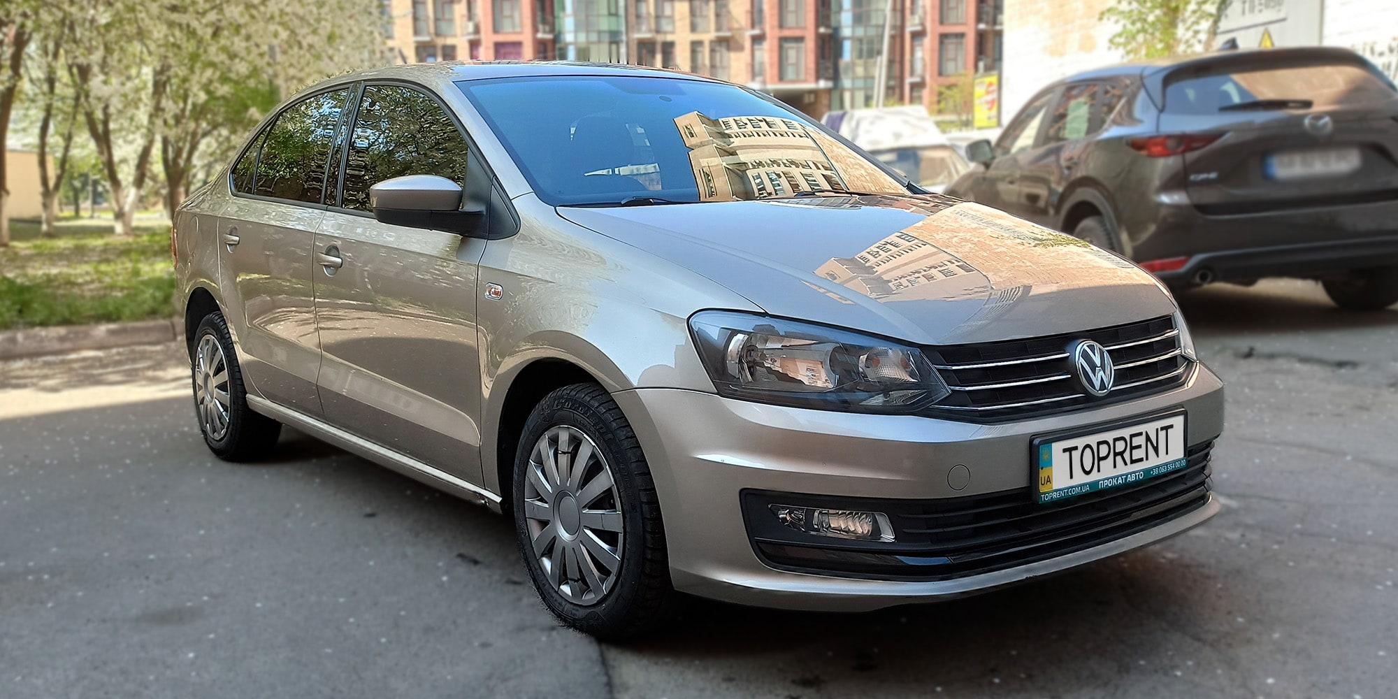 Прокат и аренда авто VW Polo sedan 2017 - фото 2 | TOPrent.ua