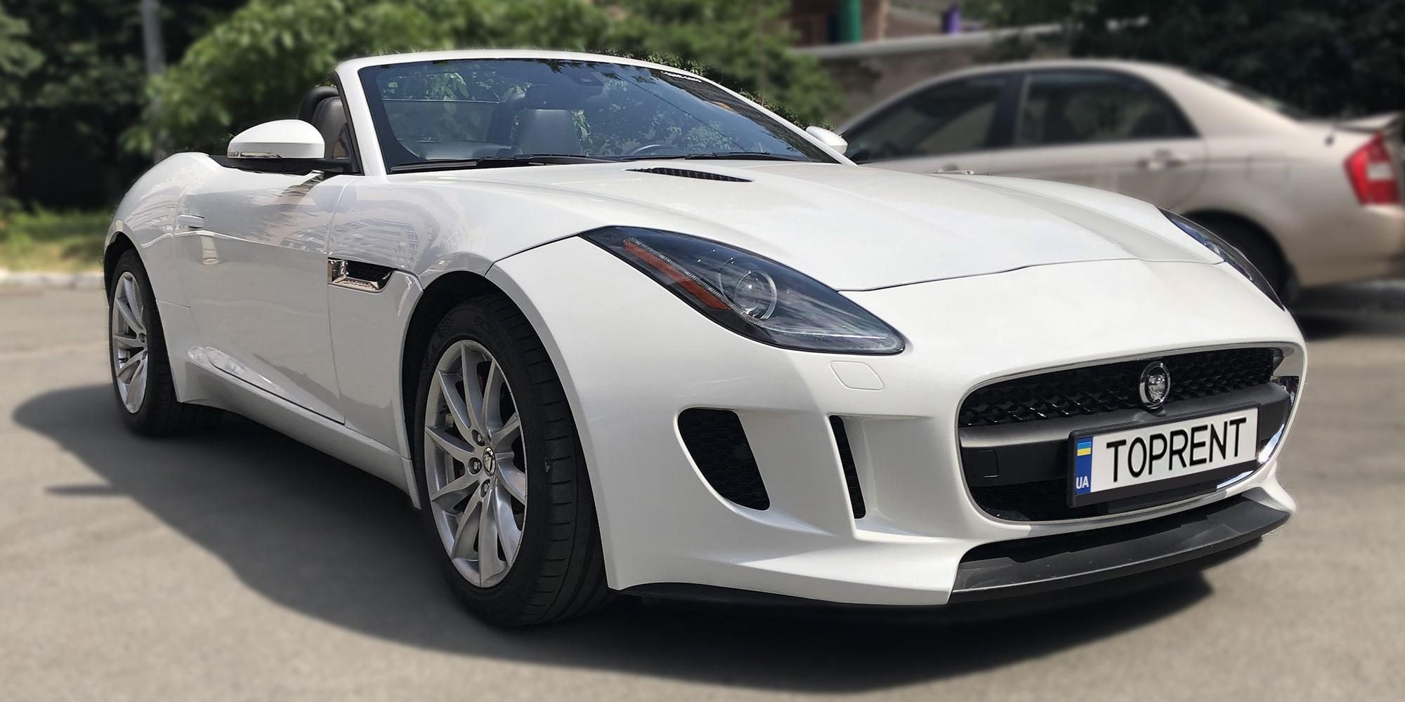Прокат и аренда авто Jaguar F-Type V6 S Cabrio - фото 2 | TOPrent.ua