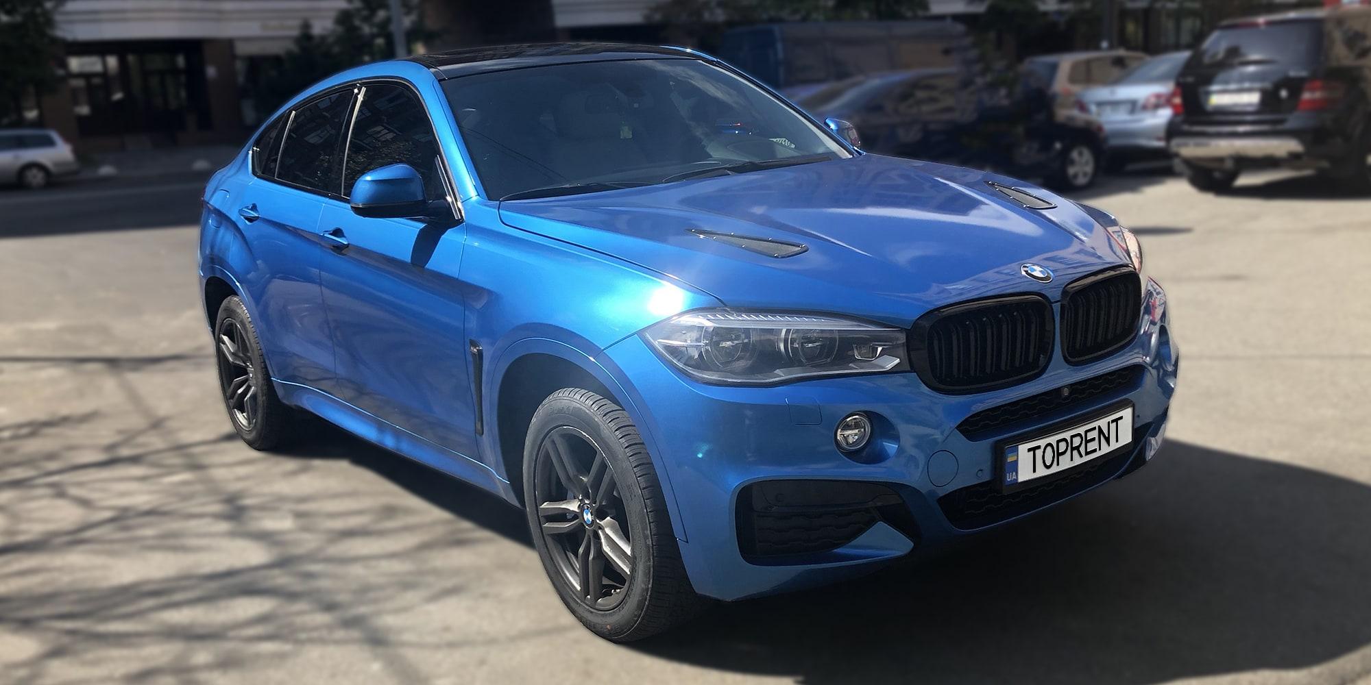 BMW X6 M50d diesel-TopRent.UA - 1